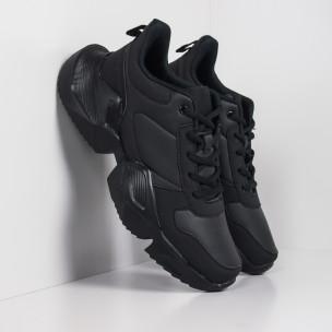Extra Chunky ανδρικά μαύρα αθλητικά παπούτσια ελαφρύ μοντέλο