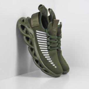 Ανδρικά military πράσινα αθλητικά παπούτσια Rogue  Kiss GoGo