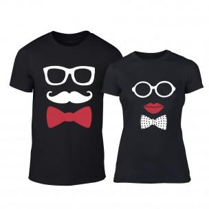 Μπλουζες για ζευγάρια Hipster Parts μαύρο