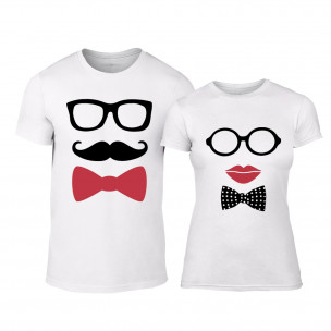 Μπλουζες για ζευγάρια Hipster Parts λευκό