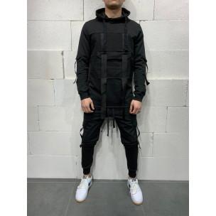Ανδρικό μαύρο αθλητική φόρμα 2Y Premium