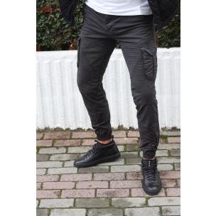 Ανδρικό γκρι παντελόνι cargo Blackzi Blackzi