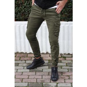 Ανδρικό πράσινο παντελόνι cargo Blackzi Blackzi