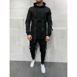 Ανδρικό μαύρο αθλητική φόρμα 2Y Premium 2