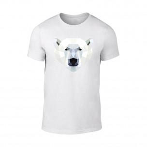 Κοντομάνικη μπλούζα Polar Bear λευκό TEEMAN