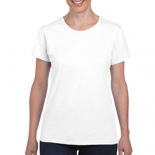 Γυναικεία λευκή κοντομάνικη μπλούζα Basic
