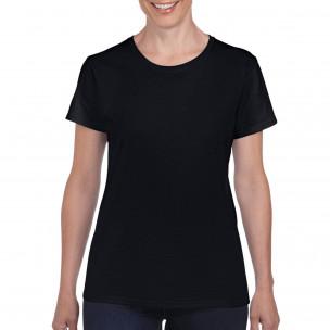 Γυναικεία μαύρη κοντομάνικη μπλούζα Basic