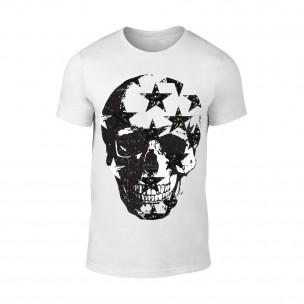 Κοντομάνικη μπλούζα Skull λευκό