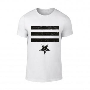 Κοντομάνικη μπλούζα Star 3 λευκό