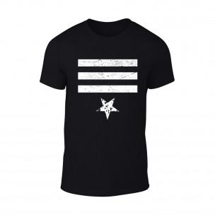 Κοντομάνικη μπλούζα Star 3 μαύρο