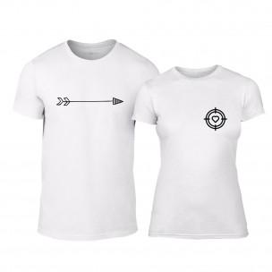 Μπλουζες για ζευγάρια Target λευκό