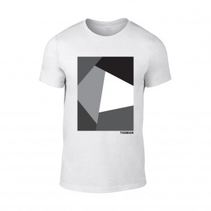 Κοντομάνικη μπλούζα Teeman λευκό