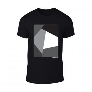 Κοντομάνικη μπλούζα Teeman μαύρο