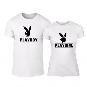Μπλουζες για ζευγάρια Playboy λευκό 2