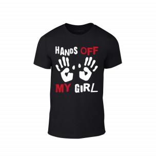 Κοντομάνικη μπλούζα Hands Off μαύρο Χρώμα Μέγεθος L