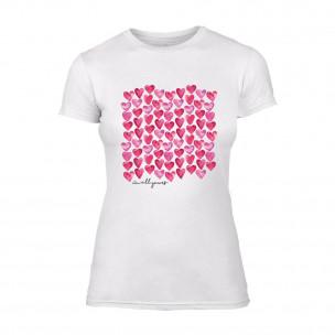 Γυναικεία Μπλούζα Hearts λευκό