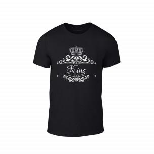 Κοντομάνικη μπλούζα Romantic King Queen μαύρο Χρώμα Μέγεθος L