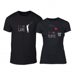 Μπλουζες για ζευγάρια Basketball μαύρο