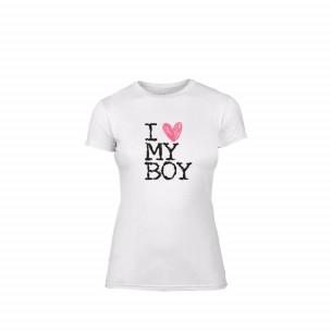 Γυναικεία Μπλούζα Love My Boy λευκό Χρώμα Μέγεθος XL