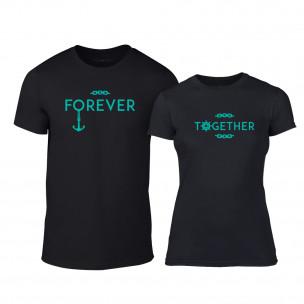 Μπλουζες για ζευγάρια Forever Together μαύρο