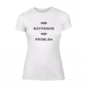 Γυναικεία Μπλούζα No Problem λευκό