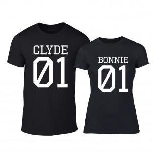 Μπλουζες για ζευγάρια Bonnie 01 & Clyde 01 μαύρο