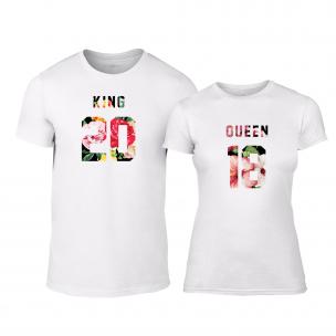 Μπλουζες για ζευγάρια King & Queen 2018 λευκό