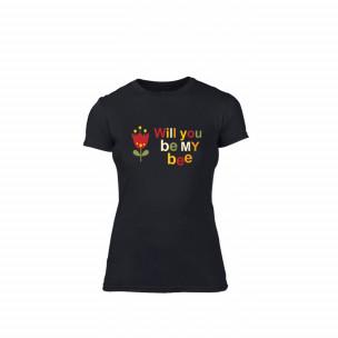 Γυναικεία Μπλούζα Bee & Honey μαύρο Χρώμα Μέγεθος S