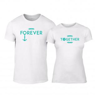 Μπλουζες για ζευγάρια Forever Together λευκό