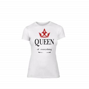Γυναικεία Μπλούζα Queen λευκό Χρώμα Μέγεθος S