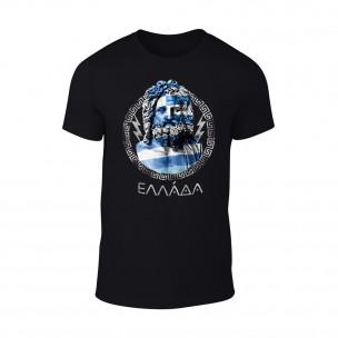 Κοντομάνικη μπλούζα Zeus μαύρο