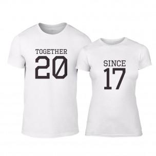 Μπλουζες για ζευγάρια Together Since 2017 λευκό