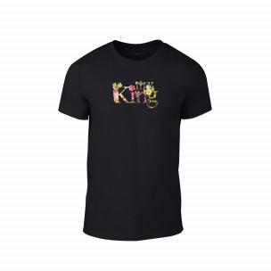 Κοντομάνικη μπλούζα My King μαύρο Χρώμα Μέγεθος S