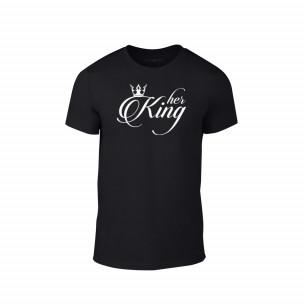 Κοντομάνικη μπλούζα King μαύρο Χρώμα Μέγεθος L