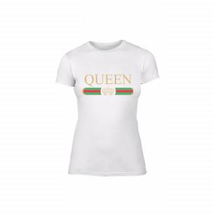 Γυναικεία Μπλούζα Fashion King Queen λευκό Χρώμα Μέγεθος L