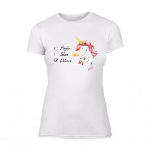 Γυναικεία Μπλούζα Unicorn λευκό