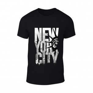 Κοντομάνικη μπλούζα New York μαύρο