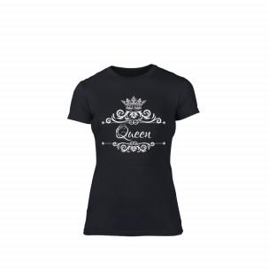 Γυναικεία Μπλούζα Romantic King Queen μαύρο Χρώμα Μέγεθος XL