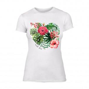 Γυναικεία Μπλούζα Exotic Flowers λευκό