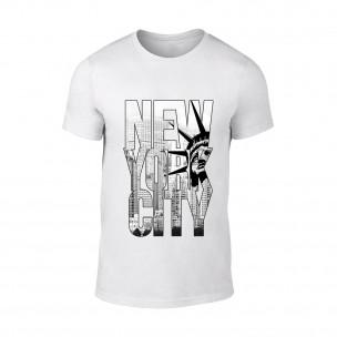 Κοντομάνικη μπλούζα New York λευκό
