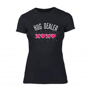 Γυναικεία Μπλούζα Hug Dealer μαύρο