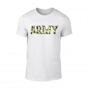 Κοντομάνικη μπλούζα Army λευκό