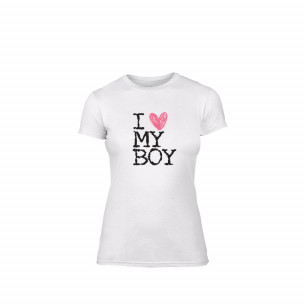 Γυναικεία Μπλούζα Love My Boy λευκό Χρώμα Μέγεθος M