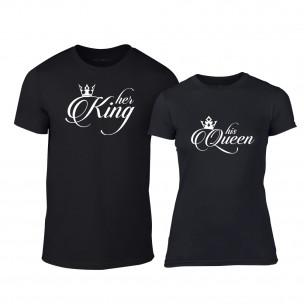 Μπλουζες για ζευγάρια King & Queen μαύρο