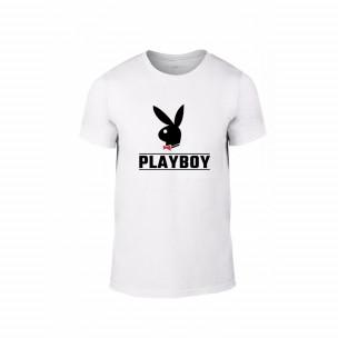 Κοντομάνικη μπλούζα Playboy λευκό Χρώμα Μέγεθος XL