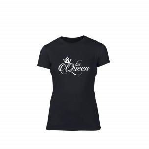 Γυναικεία Μπλούζα His queen μαύρο Χρώμα Μέγεθος XL