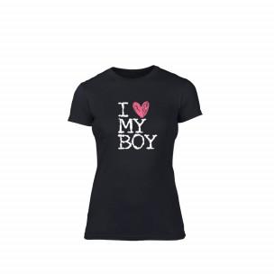 Γυναικεία Μπλούζα Love My Boy μαύρο S