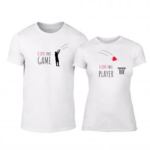 Μπλουζες για ζευγάρια Basketball λευκό