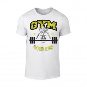Κοντομάνικη μπλούζα Gym Force λευκό