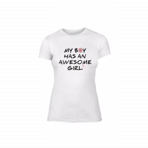 Γυναικεία Μπλούζα The Awesome Boy & Girl λευκό Χρώμα Μέγεθος M